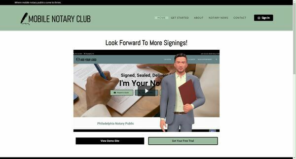 Mobile Notary Club - Mobilenotaryclub.com is an automated subscription service that provides lead generation websites for mobile notaries and loan signing agents.