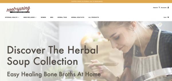 rootandspring.com - e-Commerce / Health and Beauty