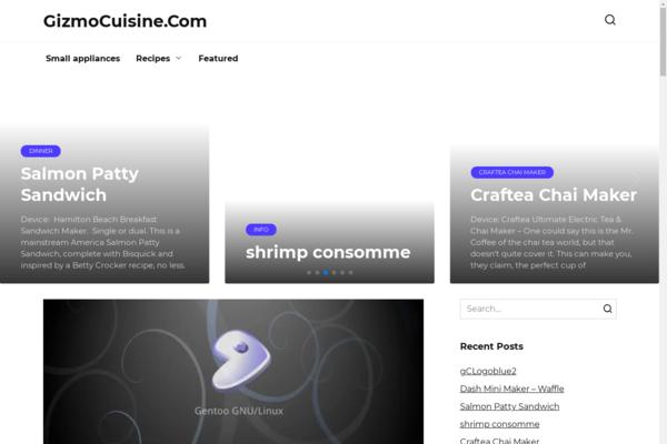 gizmocuisine.com - Recipes, cooking. Organic traffic from Google USA.