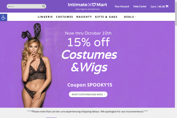 IntimateMart.com - Sexy lingerie and adult toys dropship website