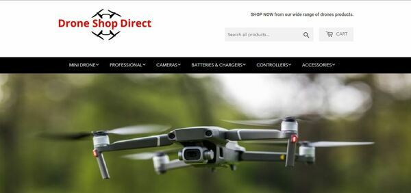 DroneShopDirect.com - High-Profit Drone Store with Striking Design and Valuable Domain