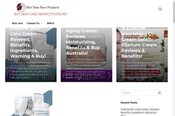 skintone4you.com - Skin care, beauty. Organic Google Traffic USA. Website on wordpress.
