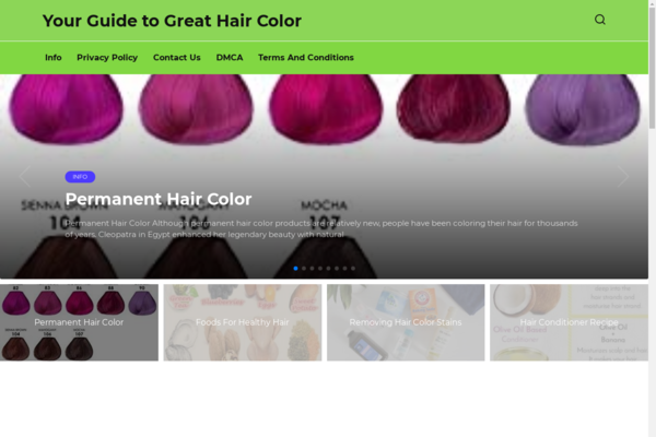 hair-color-scout.com - A blog about hair, beauty. Website on WordPress, added to Adsense. USA.