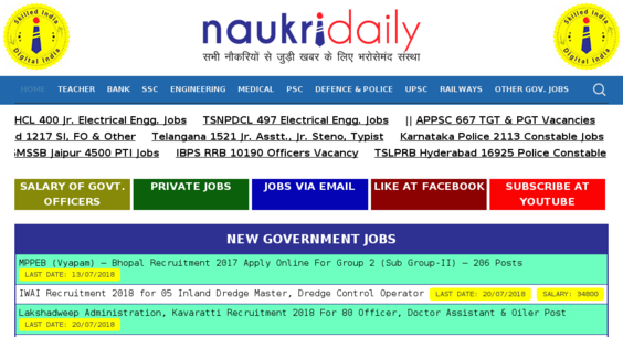naukridaily com — Website Listed on Flippa: Job portal/$100