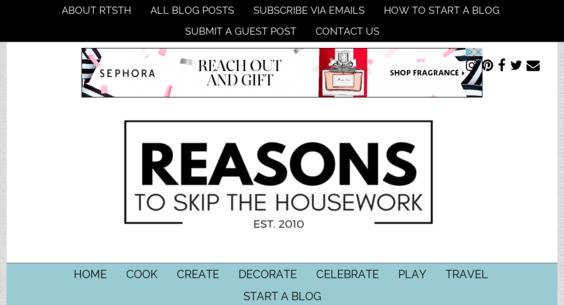 reasonstoskipthehousework com — Website Sold on Flippa: Do