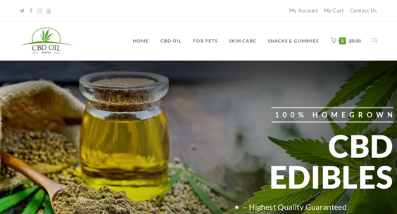 CBDOilDistrict com — Website Sold on Flippa: Legal CBD & Hemp Oil