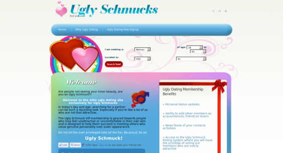 Ugly schmucks dating site