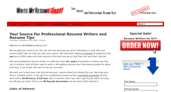 Resume Writing Service Website FOR SALE