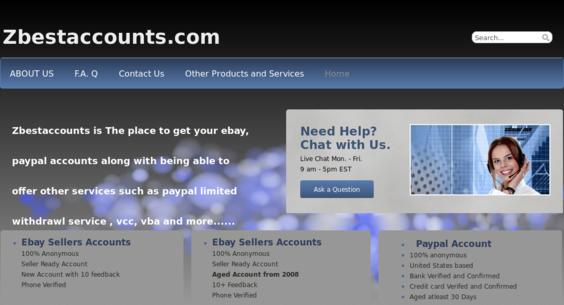 zbestaccounts com — Website Sold on Flippa: Ebay, Paypal