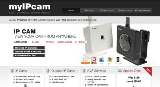 myipcam co uk — Website Sold on Flippa: #1 CCTV site on