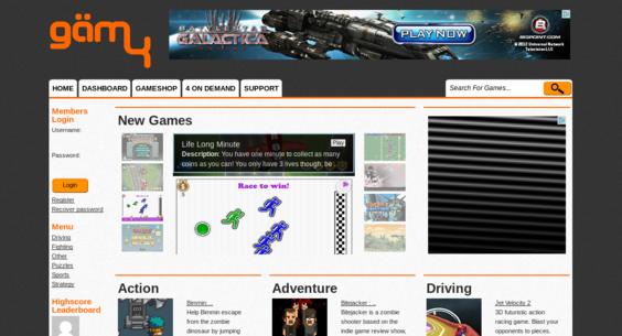 GAM4 com — Website Listed on Flippa: GAM4 - Custom Game Network