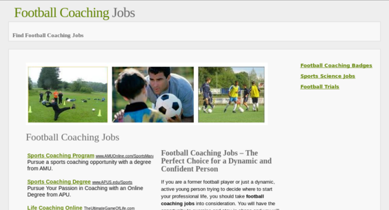 footballcoachingjobs info — Website Sold on Flippa: #1 in UK