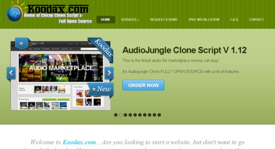 koodax com — Website Listed on Flippa: Open source Premium
