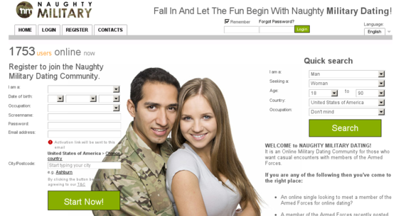 Website for dating military