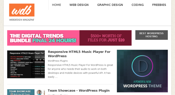 webdesignboom com — Website Listed on Flippa: Design Blog/ Awesome