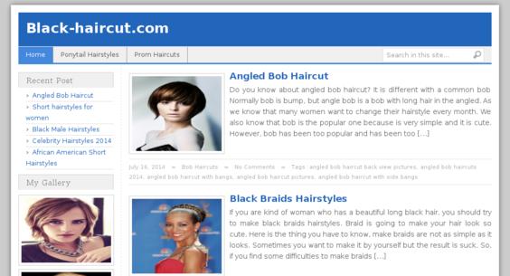 black-haircut.com — Website Sold on Flippa: $560 Adsense ...