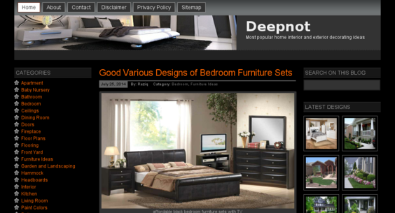 deepnot.com — Website Sold on Flippa: Home Design Site - Adsense ...