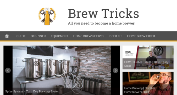 BrewTricks com — Starter Site Sold on Flippa: Hot Niche Home