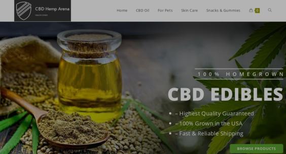 CBDHempArena com — Starter Site Listed on Flippa: Legal CBD