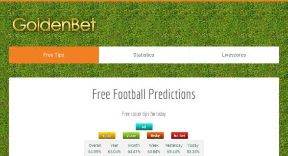 goldenbet com — Website Listed on Flippa: Free Football Predictions