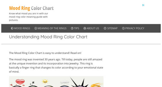 Moodringcolorchart Website Sold On Flippa Mood Ring Color Chart