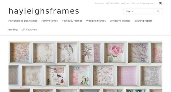 PersonalisedBoxFrames com — Website Sold on Flippa: Customised Box