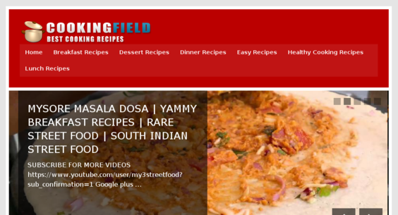 CookingField com — Starter Site Sold on Flippa: Video