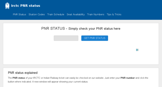 irctc-pnr-status com — Website Listed on Flippa: Site with