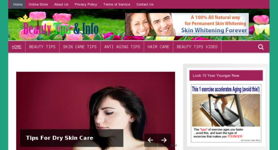 website for beauty tips - Beauty Tips Website   Amaraq Websites