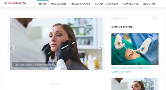 Cosmeticsurgerytips Info Website Listed On Flippa Cosmetic Surgery Tips Website 200 Every Month Earning