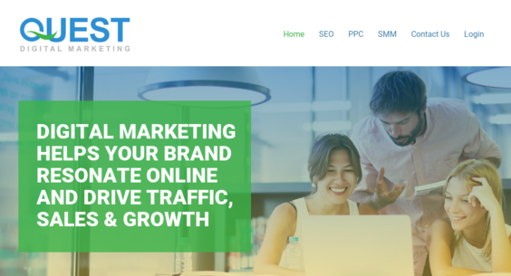 QuestDigitalMarketing com — Starter Site Listed on Flippa: Premium