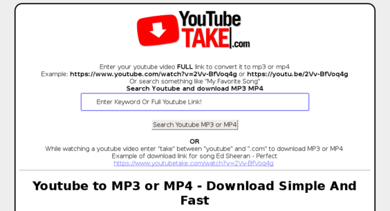 youtubetake com — Starter Site Sold on Flippa: Youtube to MP3 or MP4