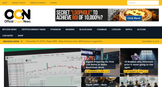 officialcryptonews com — Website Sold on Flippa: RSS Feed Quality
