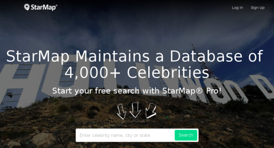 StarMap.com — Website Listed on Flippa: Celebrity Homes Map | $430+ on