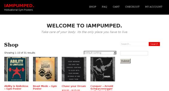 iampumped com — Website Listed on Flippa: Motivational Gym