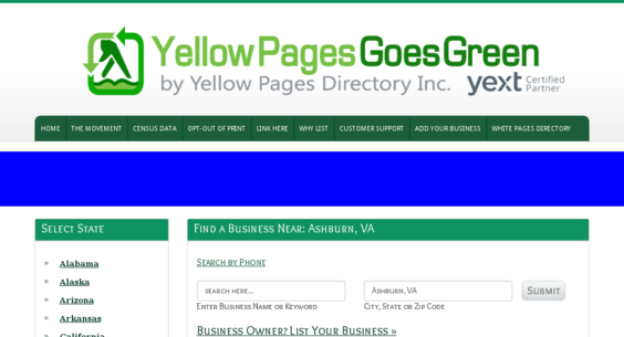 YellowPagesGoesGreen org — Website Listed on Flippa: Yellow