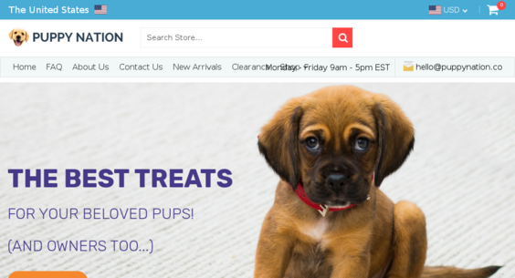 puppynation co — Website Listed on Flippa: e-Commerce / Home