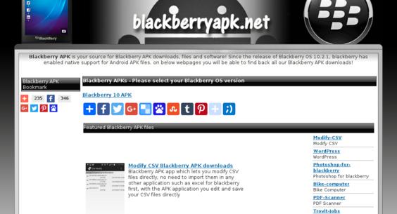 blackberryapk net — Website Listed on Flippa: 3y/o Blackberry APK