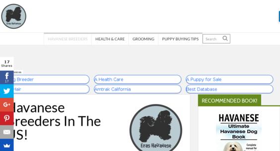 ErasHavanese com — Website Sold on Flippa: 17 Year Old Dog