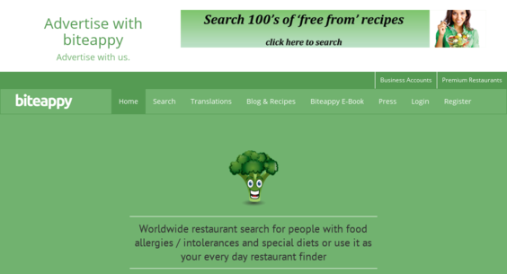 Biteappy website listed on flippa restaurant search restaurant search specialising in food allergies forumfinder Image collections