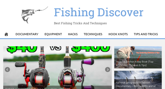 FishingDiscover com — Starter Site For Sale on Flippa