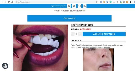perfectsourire com — Website For Sale on Flippa: e-Commerce