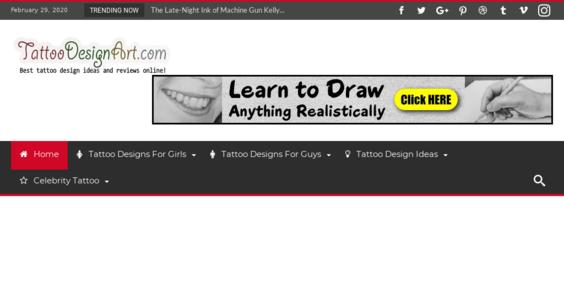 Tattoodesignart Com Starter Site Listed On Flippa Best Deals Beautiful Tattoo Designs Automated Free Maintenance No Reserve