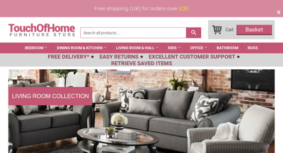 touchofhome.co.uk — Website Listed on Flippa: 1 y/o Shopify Drop ...
