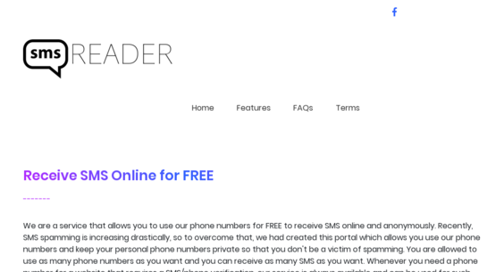 SMS-Reader com — Starter Site For Sale on Flippa: Disposable Virtual