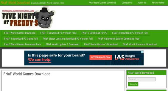 fnafworlddownloadfree com — Website Listed on Flippa: fnaf world Game