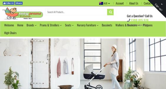 babypramsstrollers com au — Website Sold on Flippa: Shopify