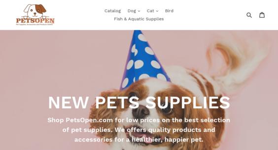 PetsOpen com — Starter Site Listed on Flippa: PET Supplies