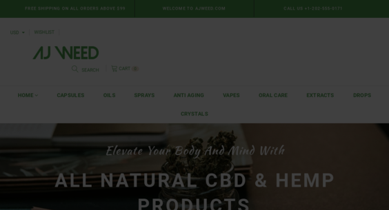 AjWeed com — Starter Site Listed on Flippa: Hemp-CBD Oil Dropship