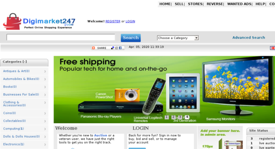 Digimarket247 Com Starter Site Sold On Flippa Ebay Lookalike Auction Website This Is A Complete Website Not A Cheap Script